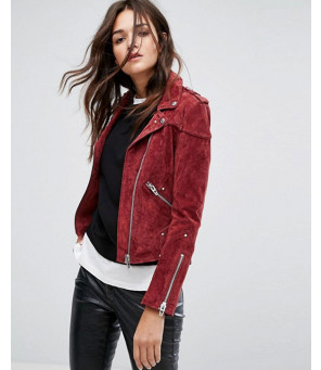 Suede-Biker-Jacket-in-Red