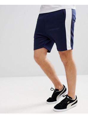 Archive-Men-Cotton-Fleece-Shorts-In-Navy