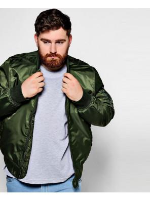 Big-And-Tall-Khaki-Bomber-Jacket-Varsity-Jacket