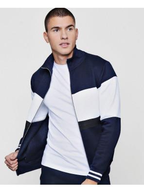 Colour-Block-Zipper-Through-Track-Top-Sweatshirt