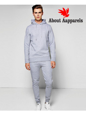 Custom-Plain-Skinny-Hooded-Tracksuit-with-Zipper-Details