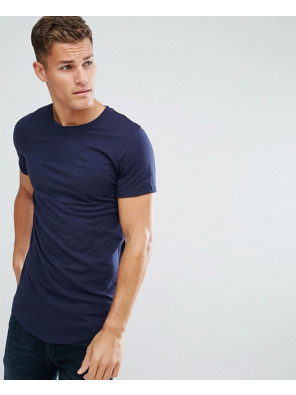 Dark-Grey-Longline-In-Slub-Cotton-Short-Sleeve-T-Shirt