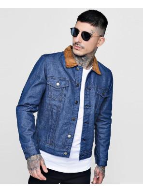Faux-Suede-Collar-Denim-Trucker-Jacket