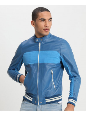 High-Quality-Men-Colour-Block-Custom-Leather-Jacket