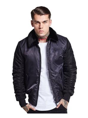 High-Quality-Men-Satin-Bomber-Varsity-Jacket
