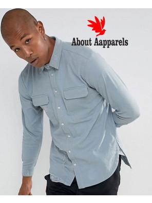 Hot-Selling-Men-Stylish-Denim-Shirt-In-Grey