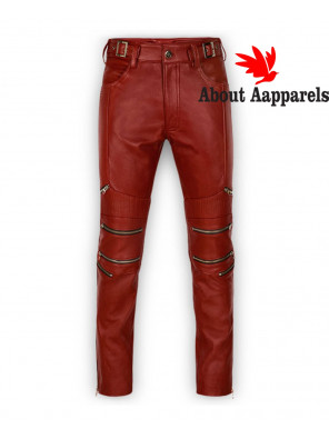 Hot-Selling-Custom-Men-Boys-Sheep-Leather-Skinny-Straight-Leg