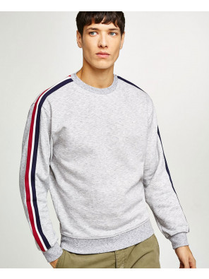 Hot-Selling-Men-Custom-Grey-Taping-Sweatshirt