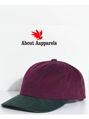 Jumble-Burgundy-&-Green-Six-Panel-Hat
