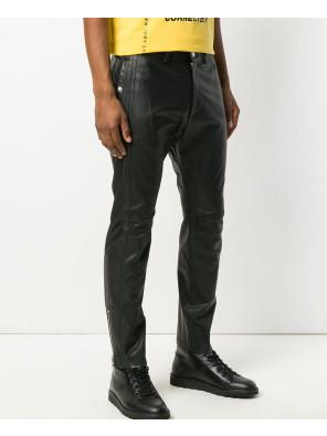 Leather-Motorcycle-Pants-Black-Slacks-For-Men