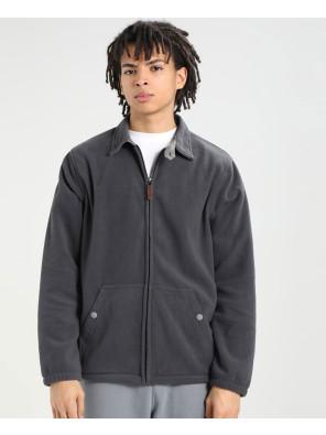 Men-High-Quality-Polar-Fleece-Jacket-In-Grey