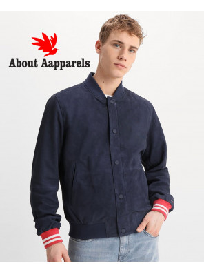 Men-Navy-Blue-Bomber-Suede-Leather-Jacket