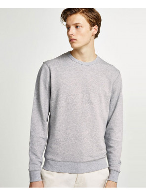 Men-Plain-Blank-Grey-Sweatshirt