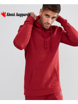 Men-Pullover-Stylish-Hoodie-In-Red