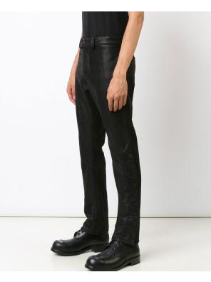 Men-Sstriped-Leather-Trouser-Punk-PU-Leather-Pants-Motorcycle-Biker-Slim-Feet-Rock