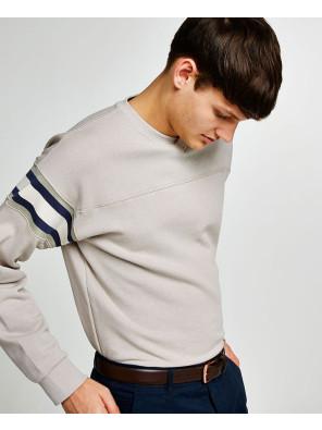Men-Stone-V-Neck-Ribbed-Sweatshirt