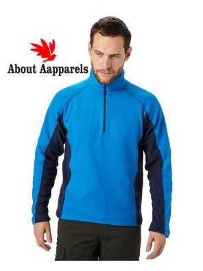 Men-Stylish-Half-Zipper-Micro-Fleece-Jacket