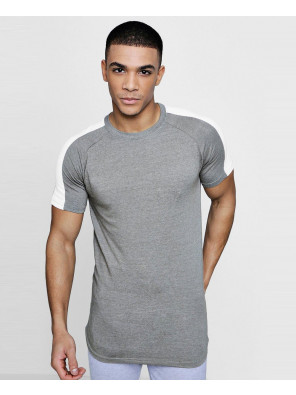 Muscle-Gym-Fit-With-Contrast-Panel-T-Shirt