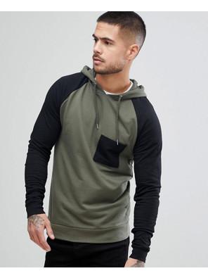 Muscle-Hoodie-With-Contrast-Raglan-Sleeve-In-Khaki-And-Black