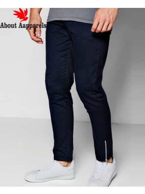 Navy-Cropped-Ankle-Zipper-Detail-Slim-Chino-Trouser