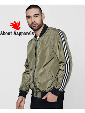 New-Fashionable-Sports-Taping-Bomber-Jacket