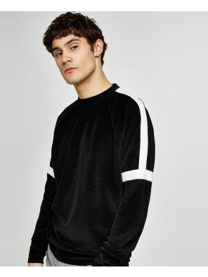 New-Look-Men-Black-Velour-Taping-Sweatshirt