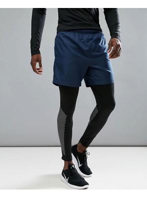 New-Look-Men-Custom-Shorts-In-Navy