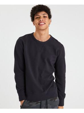 New-Men-Black-Crew-Neck-Sweatshirt