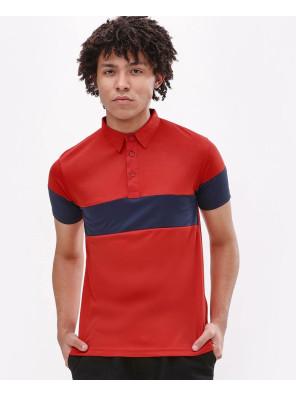 New-Stylish-Custom-Men-Chest-Sleeve-Panel-Polo-Shirt