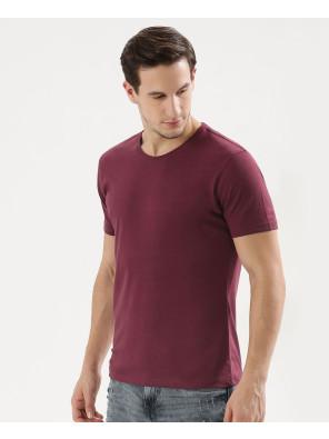 New-Stylish-Maroon-Crew-Neck-T-Shirt