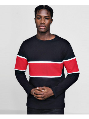 New-Stylish-Men-Colour-Block-Panel-Sweater-Sweatshirt