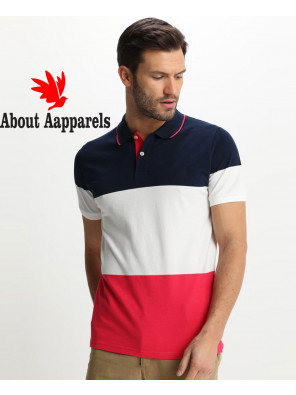 New-Stylish-Men-Colour-Block-Polo-shirt