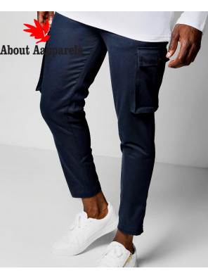 New-Stylish-Men-Cropped-Slim-Fit-Cargo-Trouser