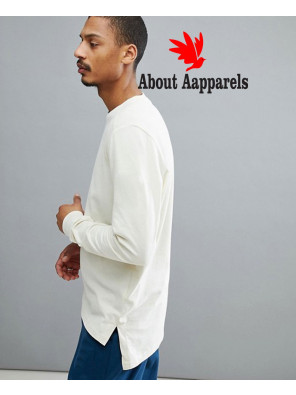 New-Stylish-Men-Long-Sleeve-Top-In-Off-White-T-Shirt