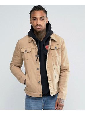 New-Stylish-Tan-Denim-Jacket