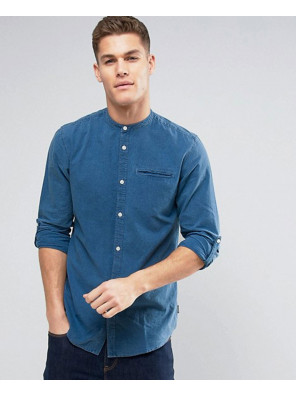 Originals-Shirt-in-Regular-Fit-Denim-With-Grandad-Collar