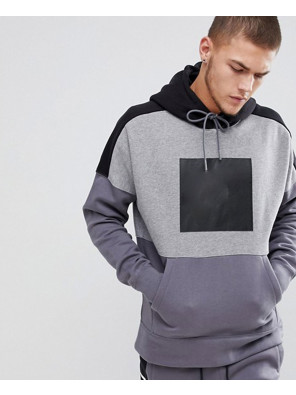 Pullover-Hood-With-Large-Logo-In-Grey