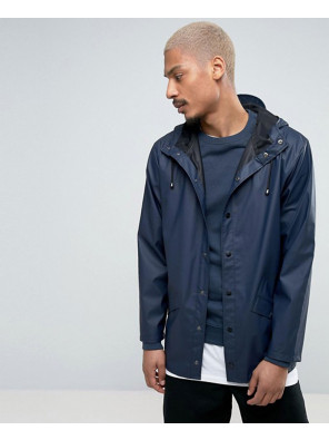 Rains-Short-Hooded-Jacket-Waterproof-in-Navy-Windbreaker-Jacket