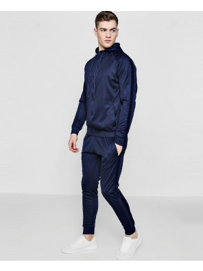 Skinny-Contrast-Panel-Hooded-Tracksuit