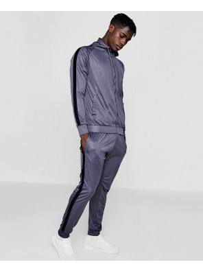 Skinny-Contrast-Panel-Hooded-Tracksuits