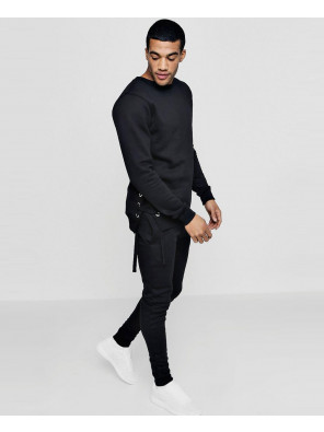 Skinny-Fit-Sweater-Eyelet-Tracksuit