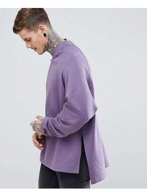 Super-Longline-Oversized-Sweatshirt-With-Side-Splits-&-Dropped-Hem