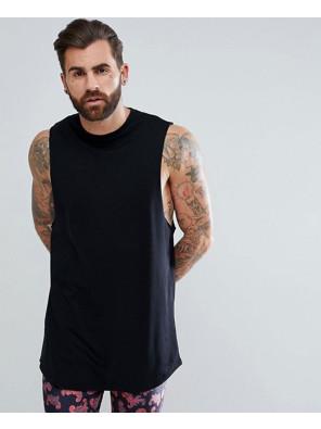 Super-Longline-Vest-with-Curve-Hem-In-Black