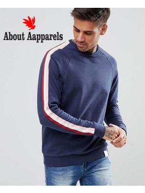 Sweatshirt-With-Side-Stripe-In-Navy