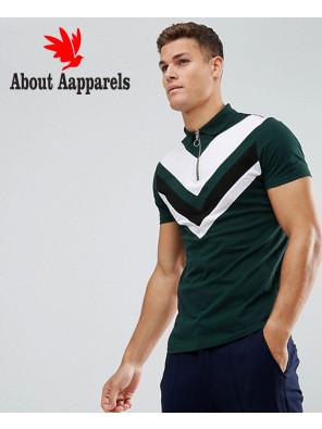 Zipper-Men-High-Quality-Custom-Made-Neck-Polo-Shirt