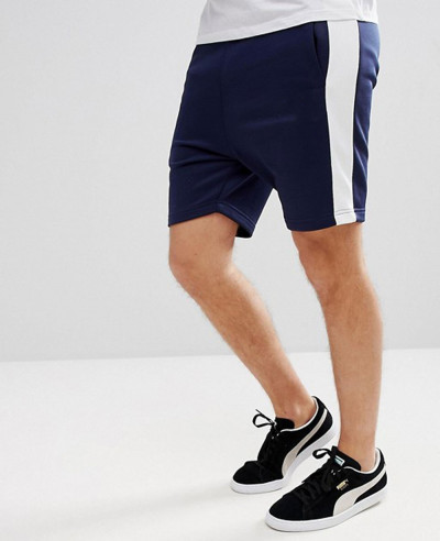Archive-Men-Cotton-Fleece-Shorts-In-Navy