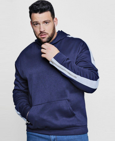 Big-And-Tall-Panel-Zip-Detail-Hoodie