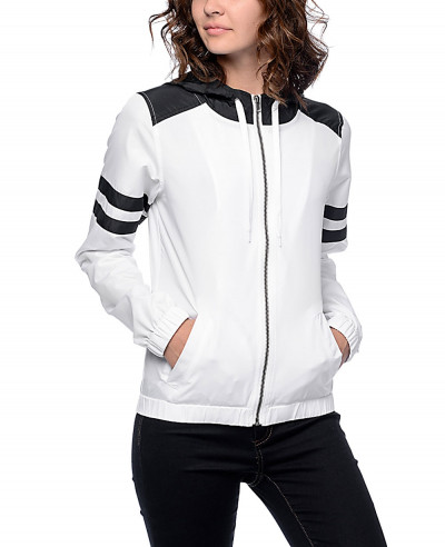 Black-&-White-Stripe-Windbreaker-Jacket