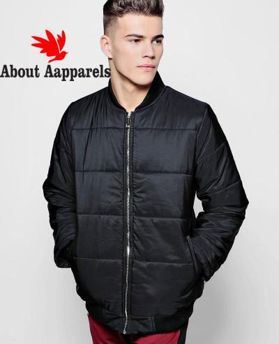 Black-Quilted-Jacket-With-Bomber-Neck-Varsity-Jacket