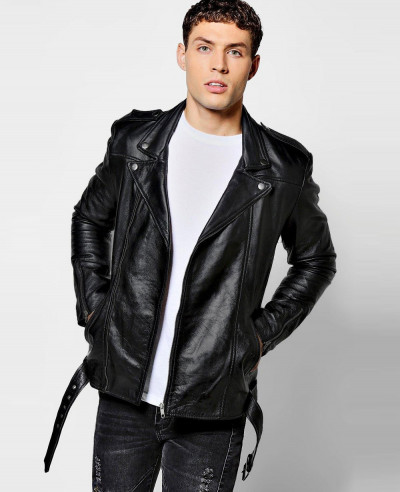 Black-Real-Leather-Biker-Jacket